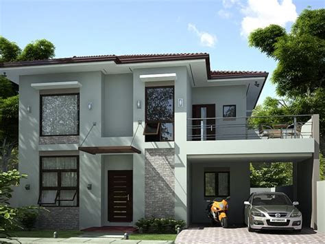storey simple modern house  ideas