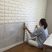 Nontoxic foam brick panel resists stain, water, mould