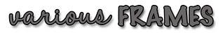 Freebie Titles VARIOUS FRAMES