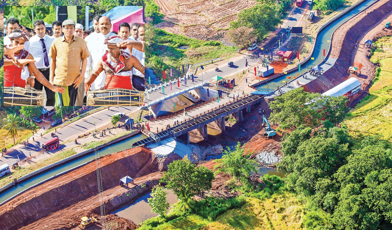 Reconstruction work on Gini Petti Bridge commences
