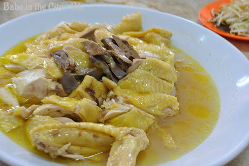 Chopped up Steamed Capon Chicken