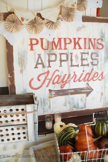 Hayride sign...perfect for the fall and its an easy DIY!