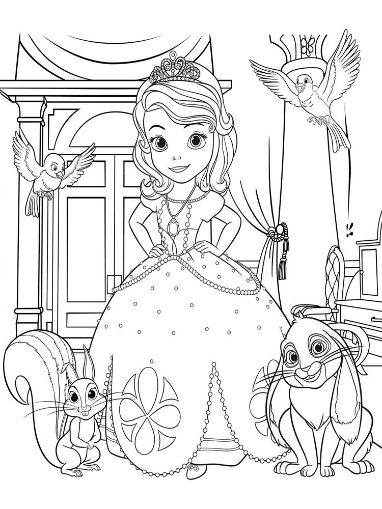 Prenses Sofia 11 ücretsiz Boyama Resimleri