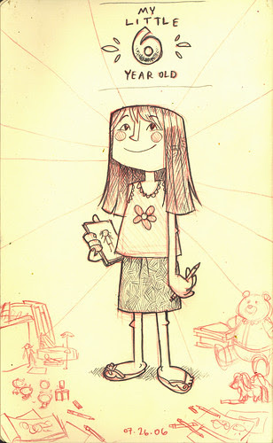 Ava: 6 years-old sketch