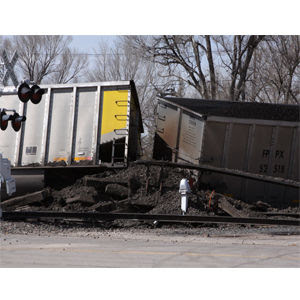 Train derails in Bridgeport