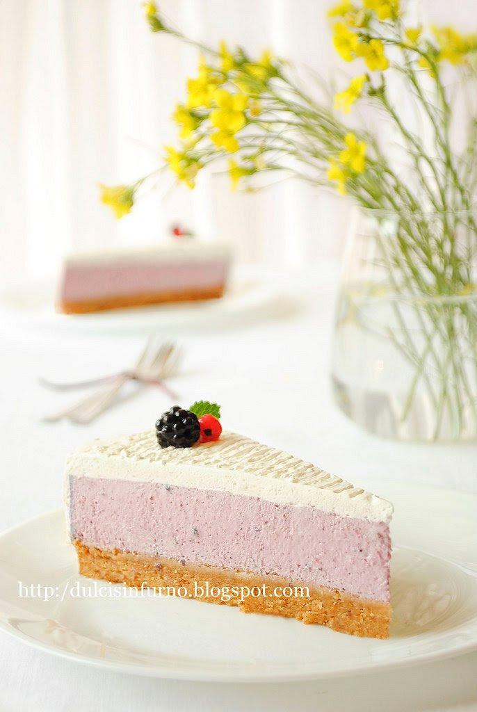 Cheesecake ai Frutti di Bosco-No Bake Berry Cheesecake