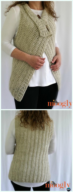 Styles free women vest tutorial crochet for online key west