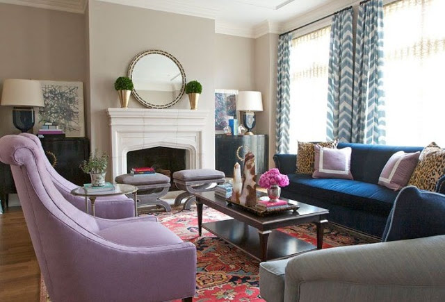 Royal Blue Living Room Ideas - Zion Star