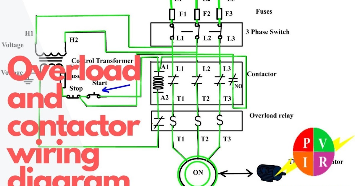 Contactor Wiring Diagram For Single Phase Motor