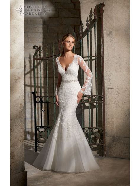 Mori Lee 2701 Long Sleeve Wedding Dress   Cotswold Frock Shop
