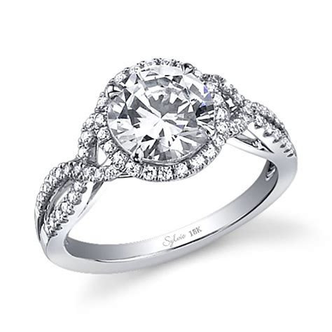 Criss Cross Band Engagement Ring   Engagement Ring USA