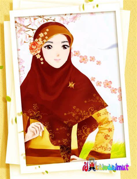 wallpaper animasi muslimah berjilbab