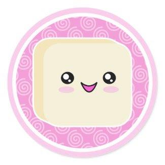 Vanilla Kawaii Mochi Stickers sticker