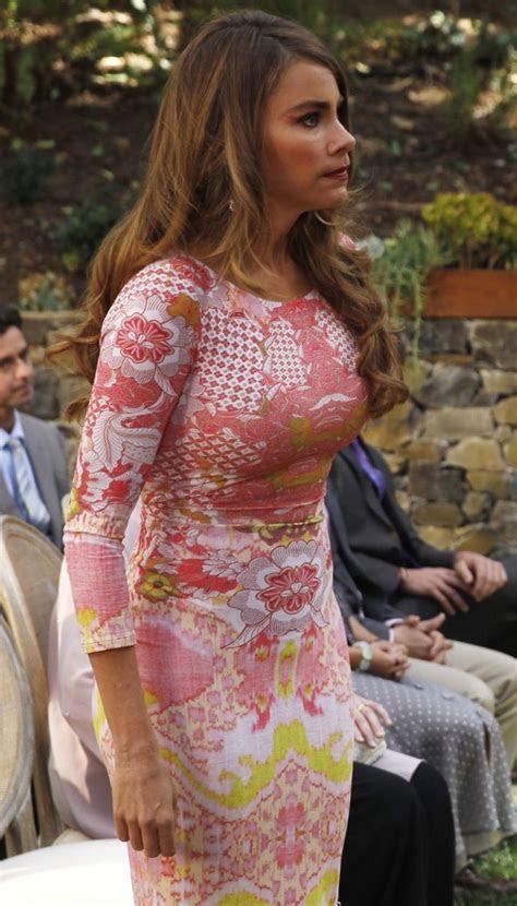 Gloria Pritchett wore a Roberto Cavalli Graphic Print Gown