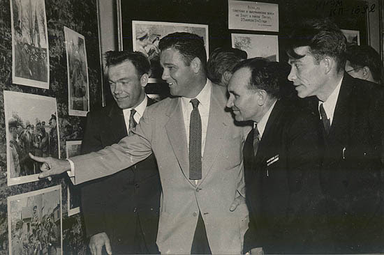 Shiver shows himself on the photo from 1945. Silvashko is the second from the right.