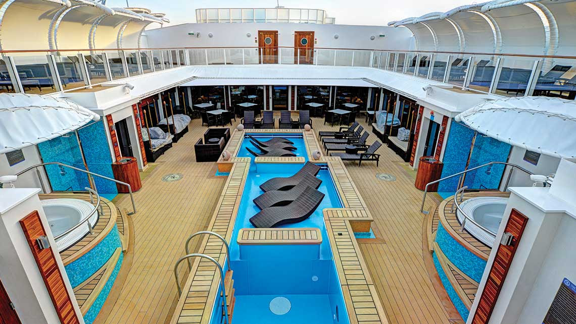 When Norwegian Cruise Line began offering the Courtyard Villa enclave in 2005, it opened the mass-market line to luxury clientele and prompted other cruise lines to follow suit. The Villa concept evolved into the Haven by 2011.