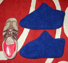 Dad's Fuzzy Feet Felted
