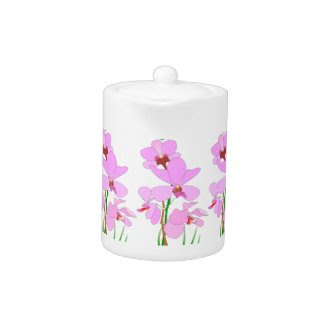 Pink Orchid Teapot
