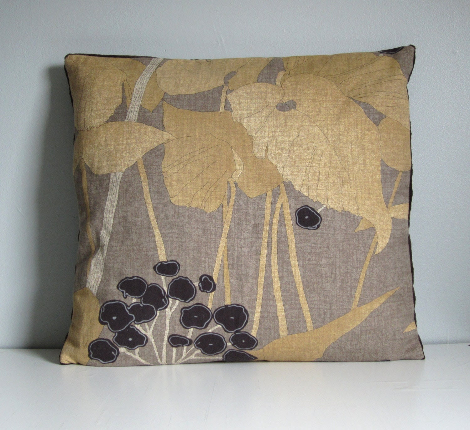 Large Decorative Throw Floor Pillow Cover Velvet by ainthatastitch