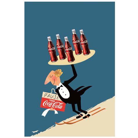 Coca Cola ski waiter vintage poster   hardtofind.