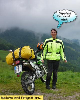 Svenja auf dem Col du Bonhomme an der Route des Crêtes