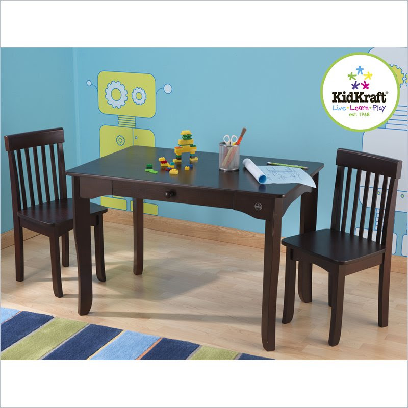 Kids Table And Chairs Set Espresso: Avalon Table & Two Chair Set