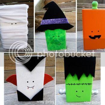 Halloween Character Blocks