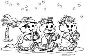 Dibujos Para Imprimir De Navidad De Los Reyes Magos Regalos
