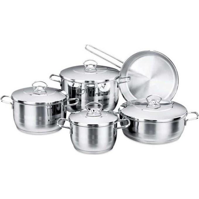 Korkmaz A 1900 Astra 9 Piece Cookware Set-cooking-pots-kitchen supplies-kitchen