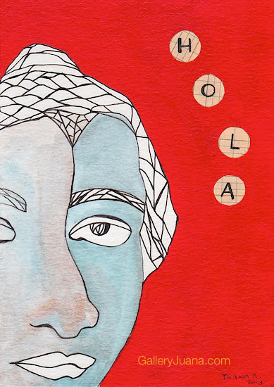 hola postcard art