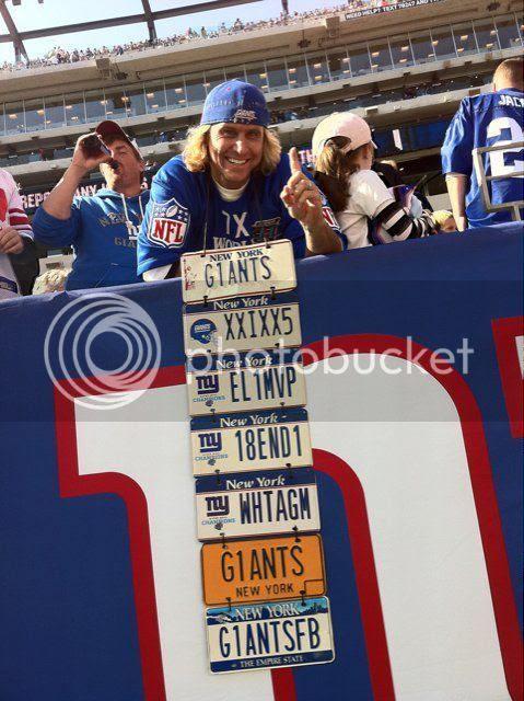 New York Giants License Plate Guy Super Fan Joe Ruback