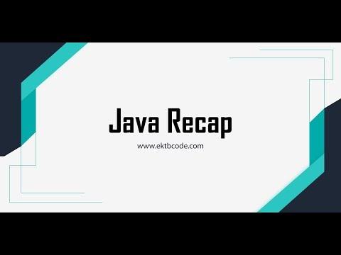 مراجعة على أساسيات لغة Java للمبتدئين