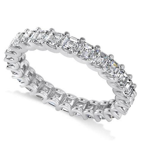 Radiant Cut Diamond Eternity Wedding Band Ring 14k White