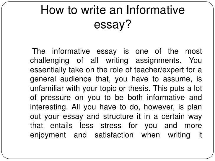 write an informative essay zip