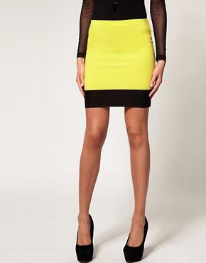 Image 4 of ASOS Mini Skirt with Mesh Hem