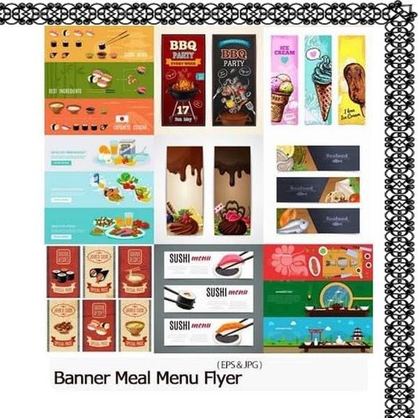 Desain Banner Cafe Unik