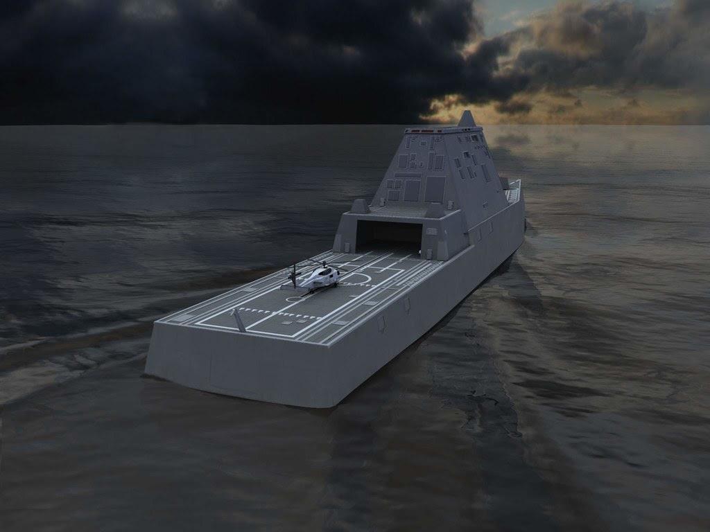 USS Zumwalt Mk110 Guns