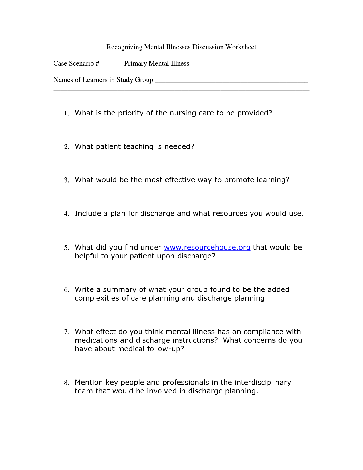 17 Best Images of Healthy Activity Worksheets For Adults ...
