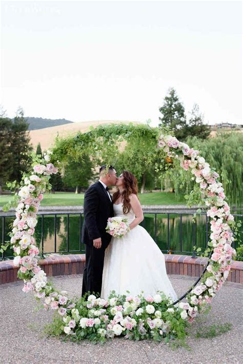 Modern Pink Wedding With Floral Inspiration   Ceremony