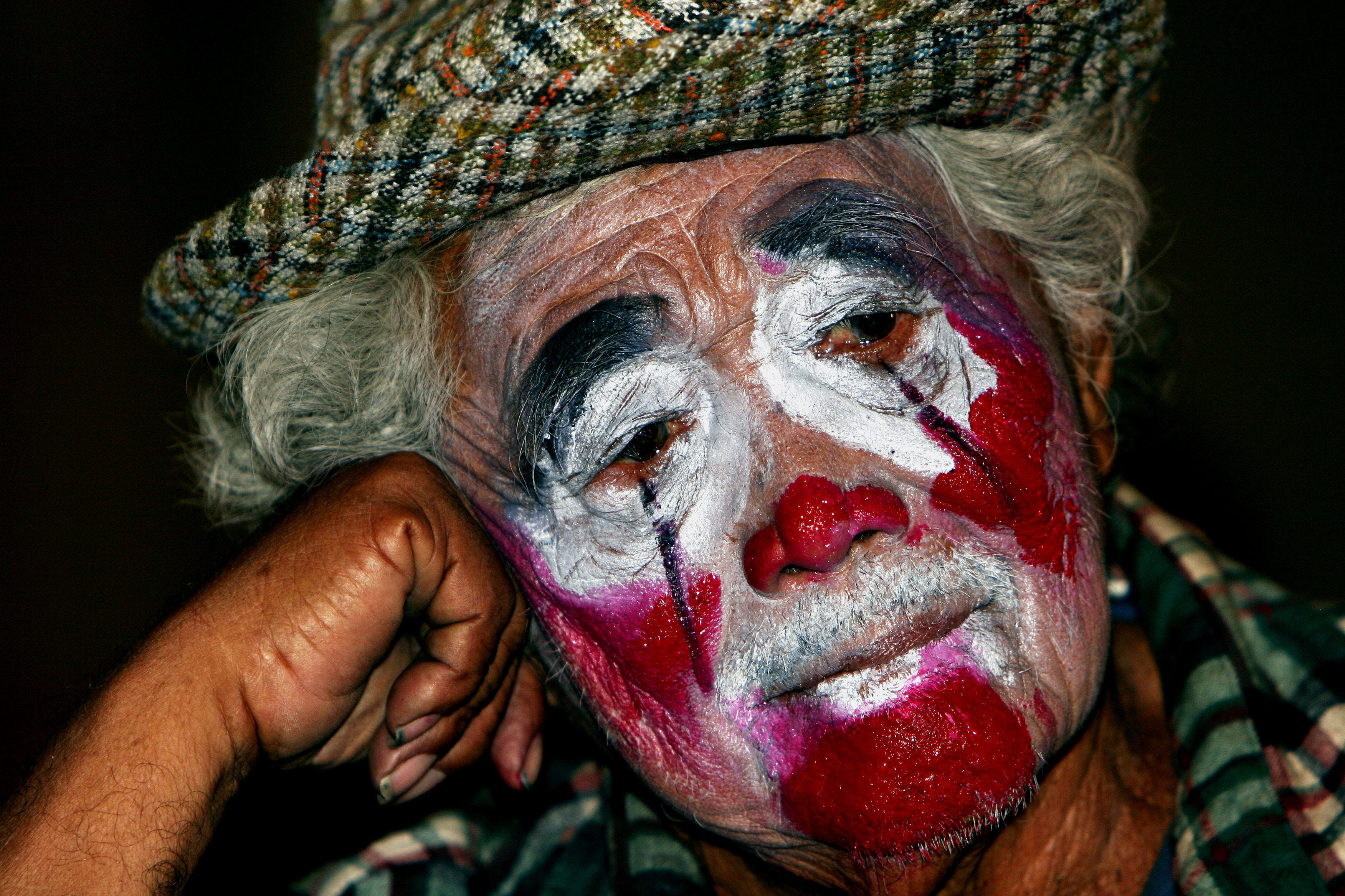 sad old clown