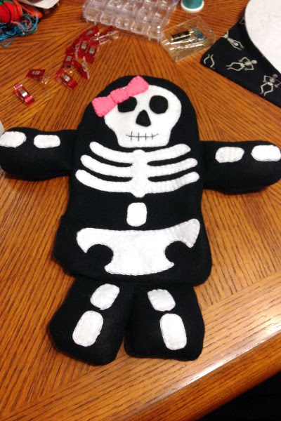 Skeleton Blankie Buddy - Flipped - Felt With Love Designs