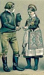 Traditional costume of Scania