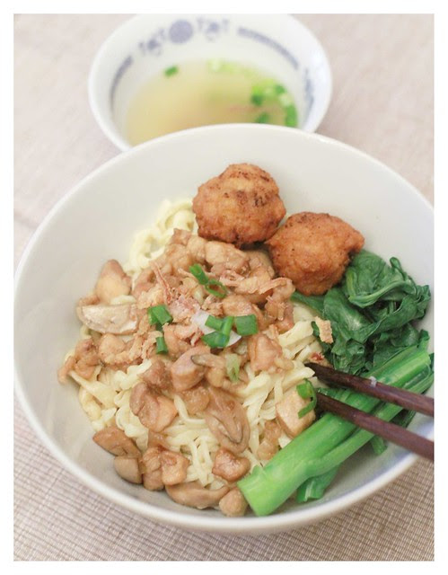 Indonesian Mie Ayam Jamur with Homemade Noodles