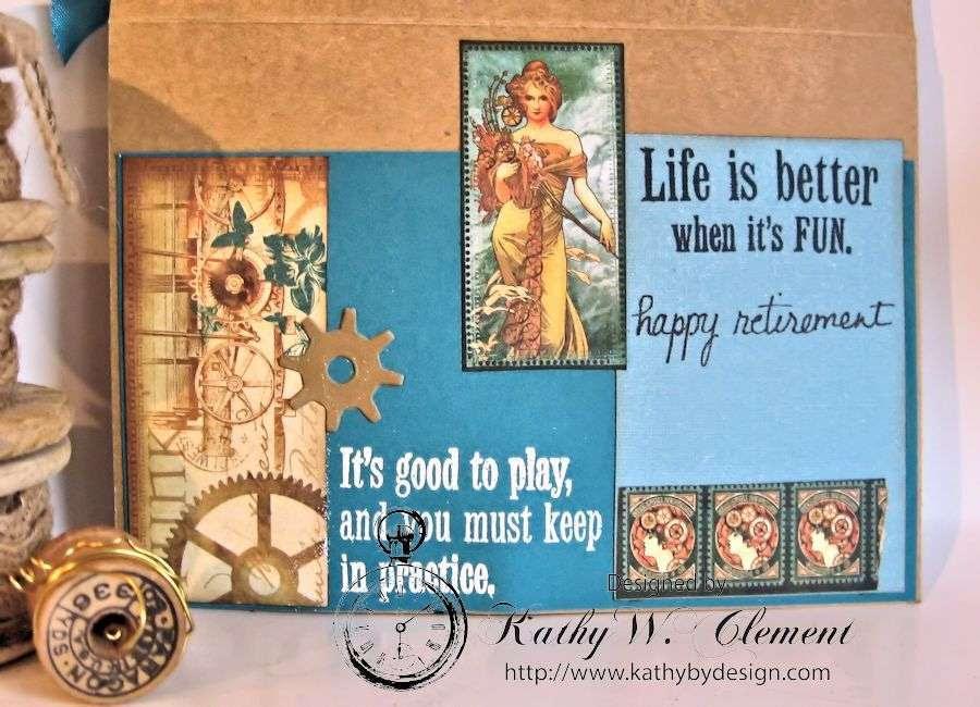 Retirement Card Steampunk Debutante 03