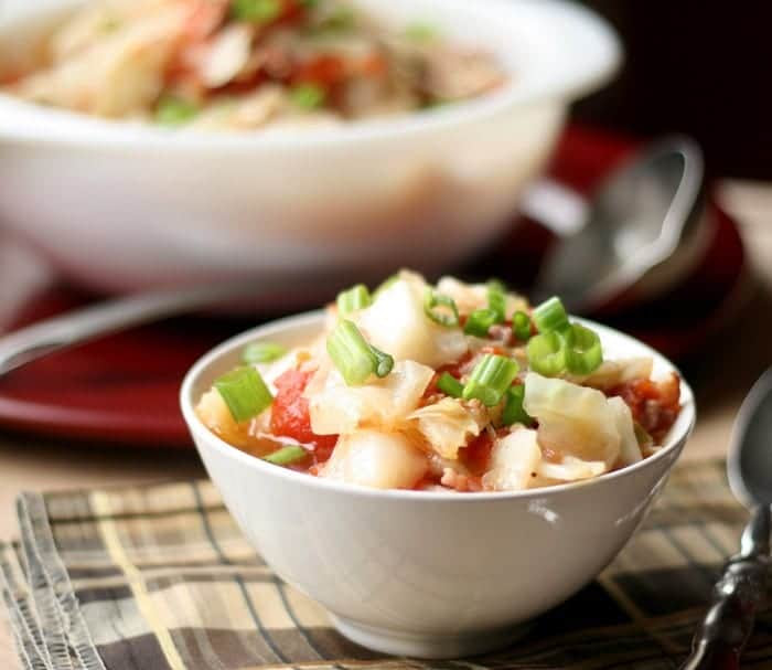 crockpot pork and cabbage soup