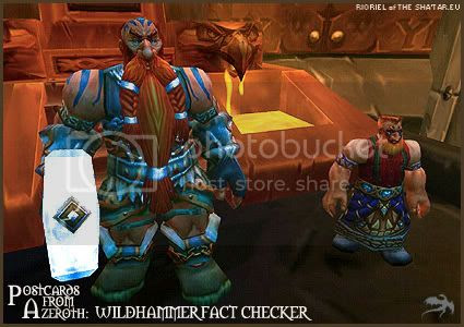 Postcards of Azeroth: Wildhammer Fact Checker, by Rioriel Ail'thera of theshatar.eu