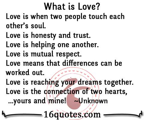 What Is Love Help Honesty Trust Respectdream