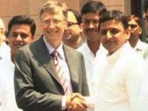 Bill Gates Meet With Uttar Pradesh Cm