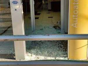 Bandidos explodiram agência bancária em Terra Nova (Foto: Divulgação / Polícia Militar)