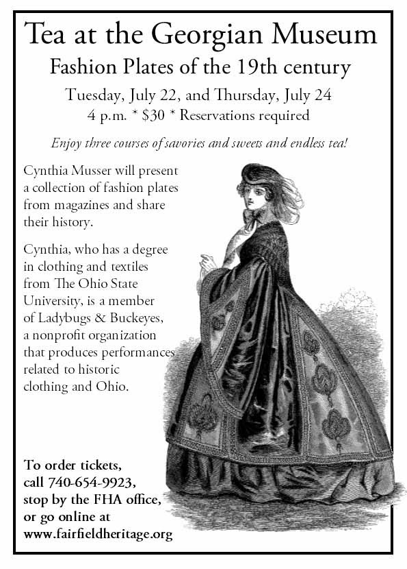 Fairfield Heritage Association - Tea at the Georgian Museum - July 22 and July 24, 2014